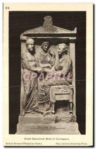 Postcard Ancient Greek Sepulchral Stele of Archagora British Museum Greece