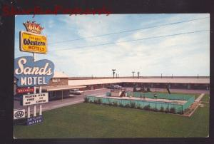 VEGA TEXAS ROUTE 66 SANDS MOTEL SWIMMING POOL OLD ADVERTISING POSTCARD