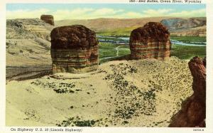 WY - Green River. Red Buttes along Lincoln Highway (U. S. Route 30)