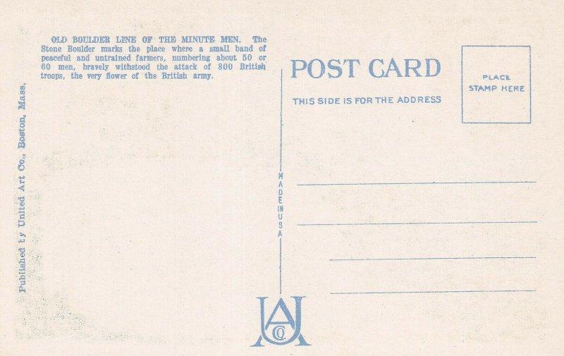 LEXINGTON, Massachusetts, 30-40s; Minute Men Memorial Boulder