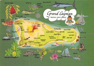 Grand Cayman Islands Post card Old Vintage Antique Postcard Grand Cayman Map ...