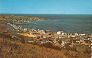 Riviere aux Renards Quebec Canada Gaspe Nord Birds Eye View Postcard J77243