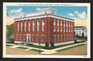 United States Post Office & Court House Statesville North Carolina Unused c1930s