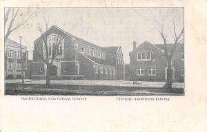 Grinnell IA~Iowa College~Herrick Chapel~Christian Associations Building~1905 B&W