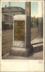 Salem MA Old North Bridge Monument c1905 Detroit Publishing Postcard