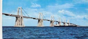 Venezuela Bridge crossing Maracaibo Lake Lac