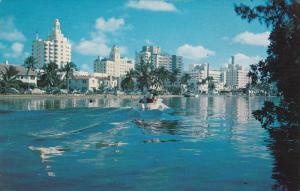 Hotel Row, Saxony Hotel, Motor Boat, Classic Cars, Indian Creek, MIAMI BEACH,...