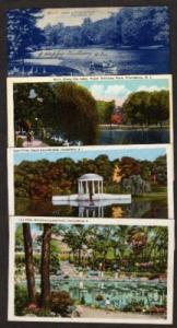 Lot 4 Williams Park Postcards PROVIDENCE RHODE ISLAND