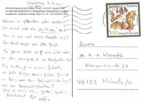 Schenkungsurkunde Kaiser Ottos Mauritiuskloster in Magdeburg