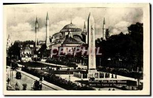 Postcard Old Isntabul Aya Sofya Muzesi