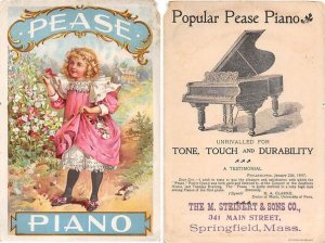 Victorian Trade Card Approx size inches = 4 x 6 Pre 1900 creases, paper chip ...