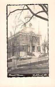 Rutland Vermont Court House Real Photo Antique Postcard K40614