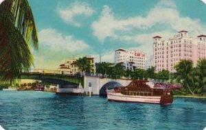 MIAMI, Florida, 1950s; Beautiful Dallas Park Section from Miami River