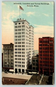 Duluth MN~Downtown Allworth Lonsdale & Torrey Buildings~Towlets Cigar Store~1912