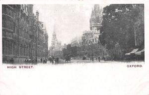 High Street, Oxford, England, early postcard unused