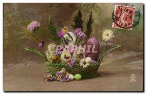 Old Postcard Fantasy Easter eggs