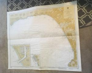 Vintage Nautical Map Chart: 18744 Santa Monica Bay 22nd Ed. May 6, 1978