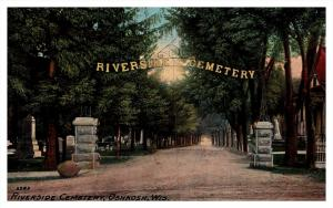 Wisconsin Oshkosh , Riverside Cemetery Entrance