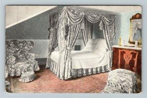 Mount Vernon VA-Virginia Martha Washington's Bedroom, Died Here Vintage Postcard