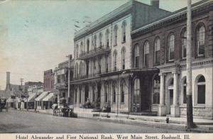 BUSHNELL , Illinois , 1917 ; West Main Street