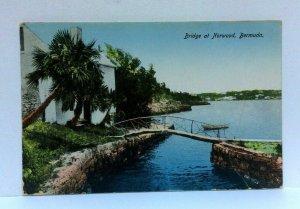 Norwood Bermuda Bridge Vintage Postcard