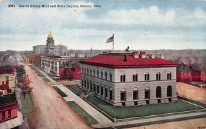 United States Mint and State Capitol, Denver, Colorado, early postcard, unused