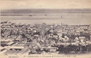 CHERBOURG, Vue generale de la Ville et de la Rade, Manche, France,10-20s