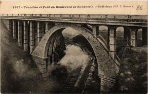 CPA St-BRIEUC - Tranchée et Pont du Boulevard de Rohannec'h (381364)