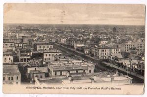 City Hall & Canadian Pacific RR, Winnepeg Manitoba