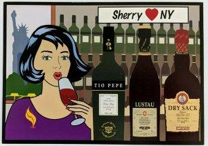 2000s Sherry Loves New York Advertising Postcard Tio Pepe Dry Sack Lustau