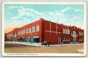 Belleville Illinois~Belleville Turner Hall~Men on Corner~Window Displays~1944