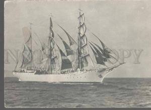 105380 USSR RUSSIA Training ship TOVARISCH in Black sea Old PC