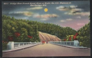 North Carolina colour PC Bridge French Broad River  Hot Springs N.C.  unused