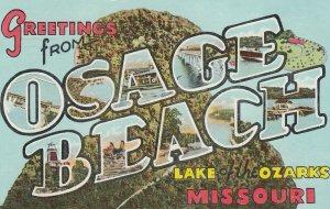 Large Letter OSAGE BEACH , Missouri , 1951