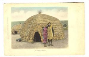 AS, Showing Typical Homes Of Africa, A Happy Couple, Durban, South Africa, 19...