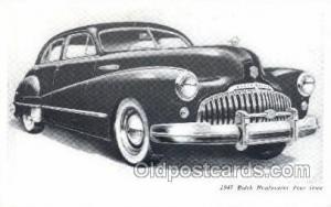 1947 Buick Road master Four Door Automotive, Autos, Cards Old Vintage Antique...