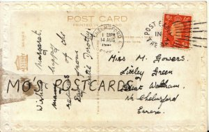 Genealogy Postcard - Gowers - Littley Green - Great Waltham - Essex - Ref 9335A