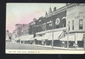 MITCHELL SOUTH DAKOTA DOWNTOWN MAIN STREET SCENE VINTAGE POSTCARD STORES