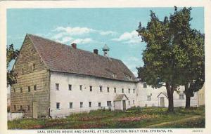 Exterior, Saal Sisters House and Chapel at the Cloister, Ephrata, Pennsylvani...