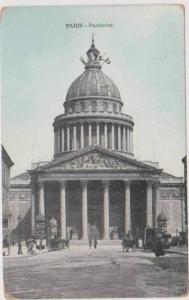 Hand Tinted View: Street View, Pantheon, Paris, France 1900-10s