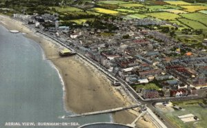 Aerial View Burnham On Sea Bucks Vintage Real Photo Postcard