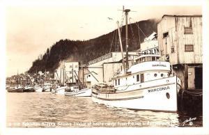 Ketchikan Alaska Seiners Boats Real Photo Antique Postcard K107049