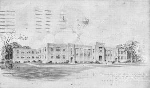 Buffalo New York St Francis High School Dorm Gym Bldg Antique Postcard K91700