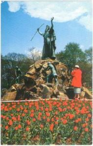 Statue of Moses in Washington Park Albany NY New York State
