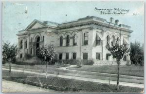 Boise, Idaho Postcard Carnegie Library CU Williams Photoette #6214 1913 Cancel
