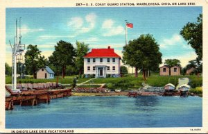 Ohio Marblehead Lake Erie U S Coast Guard Station Curteich