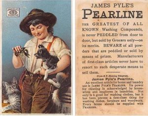 Victorian Trade Card Approx size inches = 2.5 x 4 Pre 1900 dried glue on back