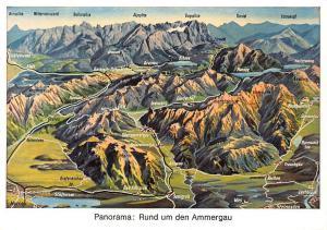 Panorama Rund um den Ammergau Gesamtansicht Grainau Eibsee Plansee Wies