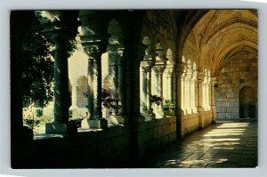 Miami FL- Florida, Cloister Walk, Ancient Spanish Monastery, Chrome Postcard