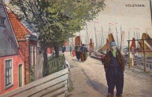 Netherlands Volendam Waterfront Street Scene sk3716